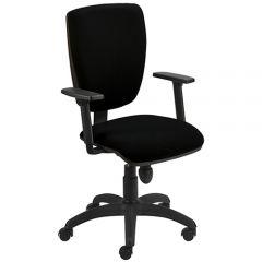Bureaustoel Alter zwart met armleuning