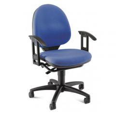 Bureaustoel Top Pro 1 Blauw met armleuningen
